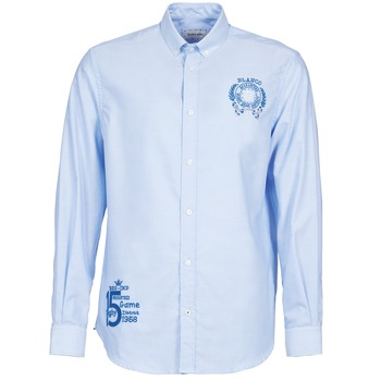 textil Hombre camisas manga larga Serge Blanco ANTONIO Azul
