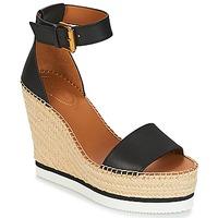 Zapatos Mujer Alpargatas See by Chloé SB26152 Negro / Blanco