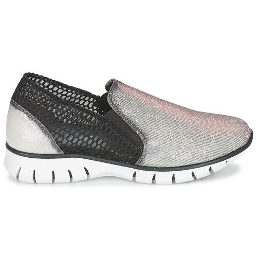 Felmini Mujer Bajas Zapatillas PlateadoNegro Zapatos Arjemise l13JucTFK