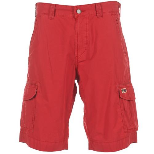 textil Hombre Shorts / Bermudas Napapijri PORTES A Rojo