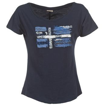 textil Mujer camisetas manga corta Napapijri SINK Marino
