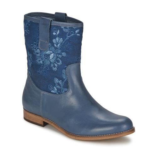 Cómodo y bien parecido Alba Moda FALINA Azul - Envío gratis Nueva promoción - Zapatos Botas de caña baja Mujer  Azul