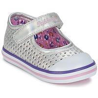 Zapatos Niña Bailarinas-manoletinas Pablosky JILENA Plateado / Rosa