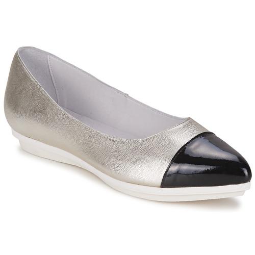 Mujer Alba Zapatos Bailarinas manoletinas PlataNegro Drinite Moda ybf7g6