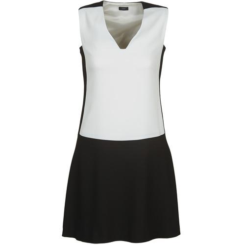 textil Mujer vestidos cortos Joseph DORIA Negro / Blanco
