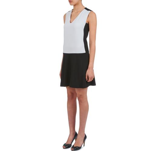 Doria Mujer Vestidos Cortos NegroBlanco Textil Joseph UpVSMqzG