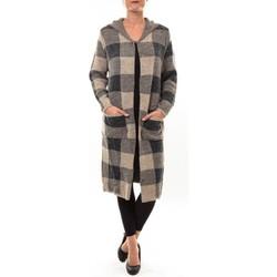 textil Mujer Chaquetas de punto De Fil En Aiguille Cardigan long K100 marron Marrón