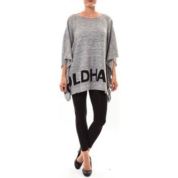 textil Mujer Jerséis De Fil En Aiguille Poncho DH3122 gris Gris