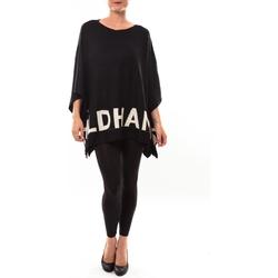 textil Mujer Jerséis De Fil En Aiguille Poncho DH3122 noir Negro