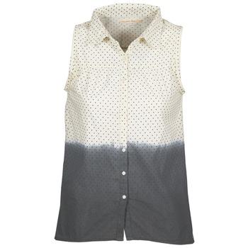 textil Mujer camisas Teddy Smith CAMILLE Azul / Crudo