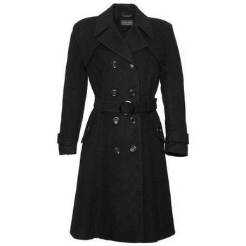 textil Mujer trench De La Creme Mujeres de lana y abrigo de cachemira Black