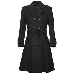textil Mujer trench De La Creme Abrigo largo de lana y cachemira. Grey