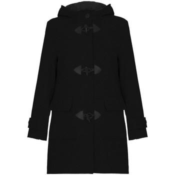 textil Mujer Abrigos De La Creme Bata de invierno de cachemir con capucha de lana Black