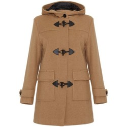 textil Mujer Abrigos De La Creme Bata de invierno de cachemir con capucha de lana BEIGE