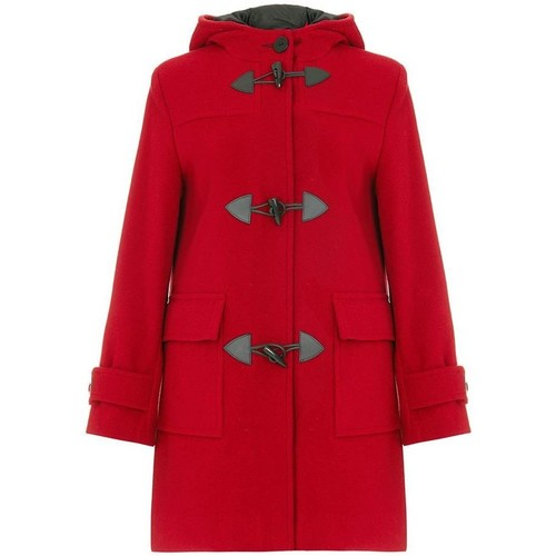 textil Mujer Abrigos De La Creme Bata de invierno de cachemir con capucha de lana Red