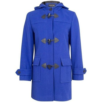 textil Mujer Abrigos De La Creme Bata de invierno de cachemir con capucha de lana Blue