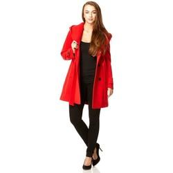 textil Mujer Abrigos De La Creme Abrigo de invierno con capucha Red