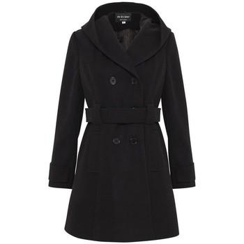 textil Mujer parkas De La Creme Abrigo de invierno con capucha Black