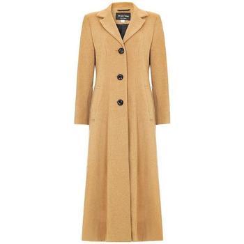 textil Mujer Abrigos De La Creme Abrigo Largo Doble Sencillo Black