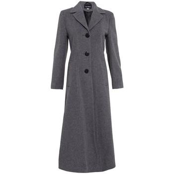 textil Mujer Abrigos De La Creme Abrigo Largo Doble Sencillo Grey