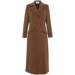 textil Mujer Abrigos De La Creme Abrigo largo entallado cruzado Brown