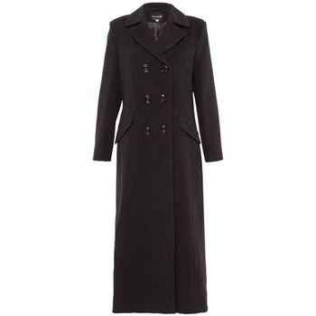 textil Mujer Abrigos De La Creme Abrigo largo entallado cruzado Grey
