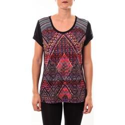 textil Mujer Camisetas manga corta Custo Barcelona Top Luzio Newark multicouleurs Multicolor