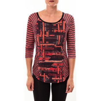 textil Mujer Camisetas manga larga Custo Barcelona Top Eleon rouge Rojo