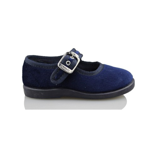 Zapatos Niños Bailarinas-manoletinas Vulladi CASA  TERCIOPELO AZUL