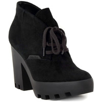 Zapatos Mujer Botines Calvin Klein Jeans STEVI SUEDE BLACK Nero