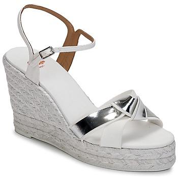 Zapatos Mujer Sandalias Castaner BESSIE Blanco / Plateado