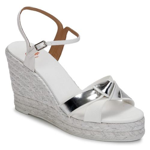 Zapatos promocionales Castaner BESSIE Blanco / Plateado  Venta de liquidación de temporada