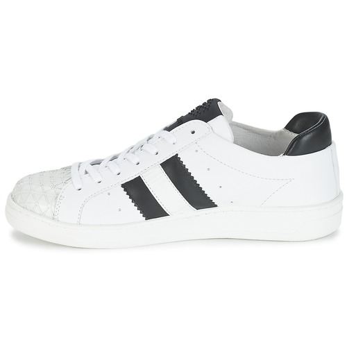 Zapatillas 594 Zapatos Leather Mujer Bajas BlancoNegro Bikkembergs Bounce 1lFJ5KTcu3
