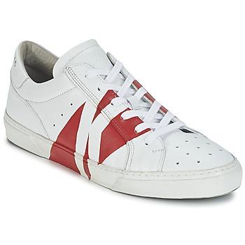 Zapatos Hombre Zapatillas bajas Bikkembergs RUBB-ER 668 LEATHER Blanco / Rojo