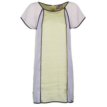 Vestidos Chipie FREGENAL Amarillo / Gris 350x350