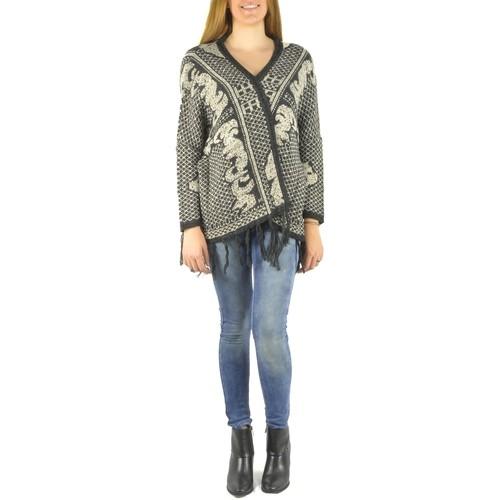 textil Mujer Chaquetas de punto Barcelona Moda Gilet en laine 71171502 noir Negro