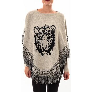 textil Mujer Chaquetas de punto Barcelona Moda Poncho 73017004 gris Gris