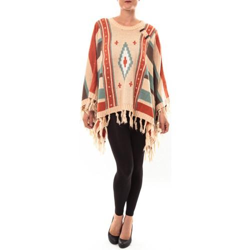 textil Mujer Jerséis Barcelona Moda Poncho 72473601 beige Beige