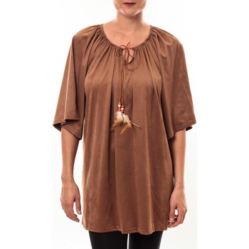 textil Mujer Túnicas Nina Rocca Tunique Emilie camel Marrón
