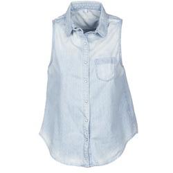 textil Mujer camisas manga corta Pepe jeans POCHI Azul
