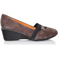 Zapatos Mujer Zapatos de tacón Geox NEW TAYLOR MOCASIN CUÑA MARRON