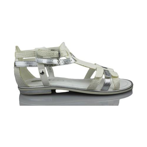 Zapatos Niña Sandalias Geox GIGLIO GBK BLANCO