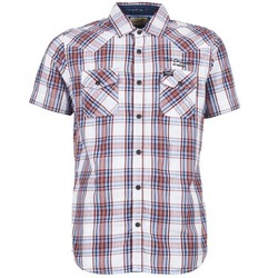 textil Hombre camisas manga corta Petrol Industries SHIRT SS Blanco / Rojo
