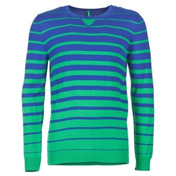 textil Hombre jerséis Benetton FODIME Marino / Verde