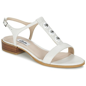 Zapatos Mujer Sandalias Clarks BLISS SHIMMER Blanco