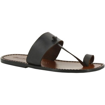 Zapatos Mujer Zuecos (Mules) Gianluca - L'artigiano Del Cuoio 554 U MORO CUOIO Testa di Moro