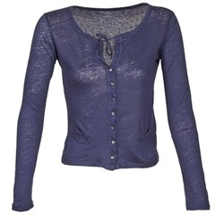 textil Mujer Chaquetas de punto Majestic BATHILDE Azul