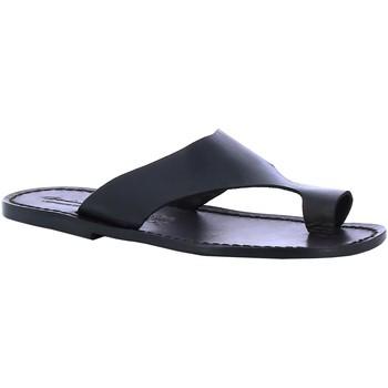 Zapatos Hombre Chanclas Gianluca - L'artigiano Del Cuoio 521 U NERO CUOIO nero
