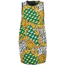 textil Mujer vestidos cortos Versace Jeans NDM909 BIS Negro / Multicolor