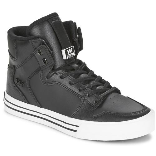 Zapatos especiales para hombres y mujeres Supra VAIDER CLASSIC Negro / Blanco